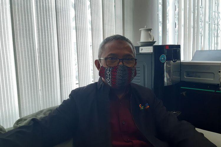 Kepala Badan Pusat Statistik (BPS) Solo Totok Tavirijantodi Solo, Jawa Tengah, Jumat (19/3/2021).