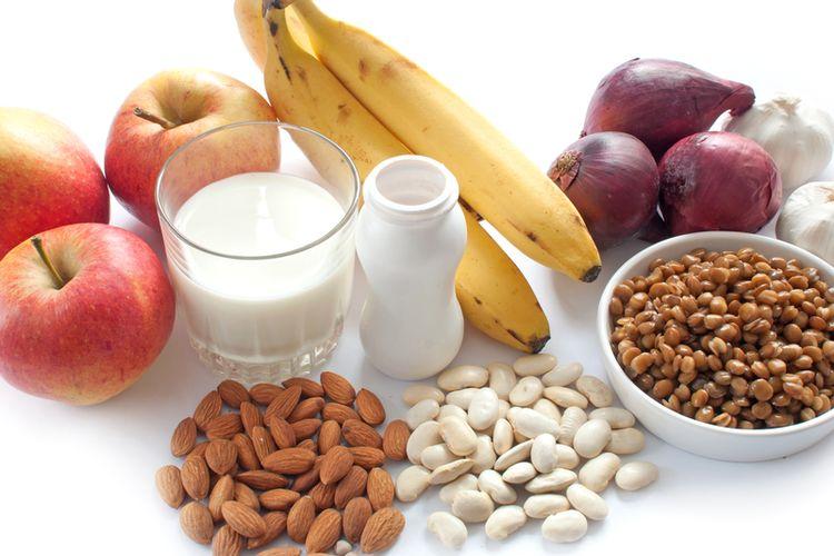 makanan yang prebiotik dan probiotik