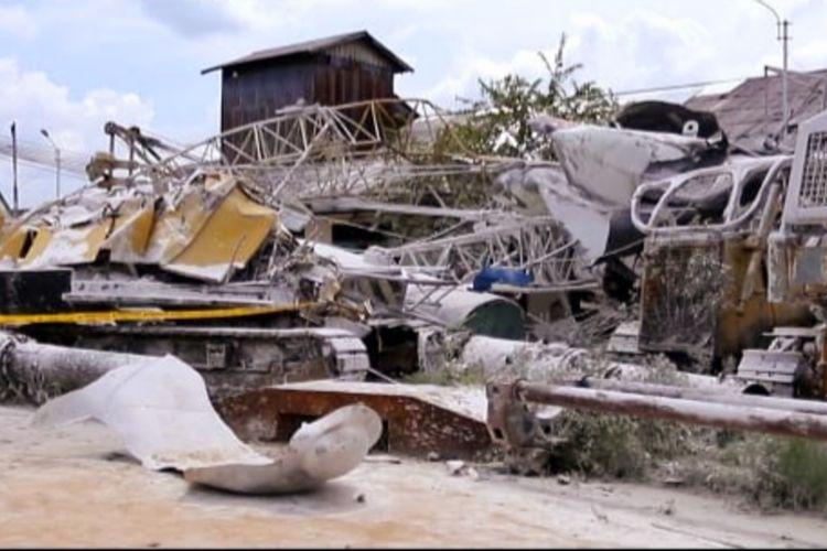 Sebuahtabunggasnitrogenmilik PT Baja Sarana Sejahtera (PT BJS) di Jalan Khatulistiwa, KecamatanPontianakUtara, Kota Pontianak, Kalimantan Barat ( Kalbar) meledak, Senin (5/10/2020), pukul 03.00 WIB.