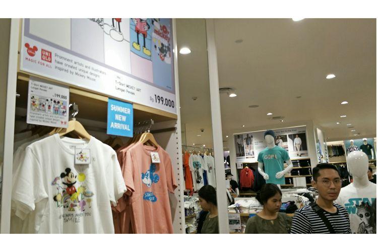 Store Uniqlo di Grand Indonesia, Jakarta Pusat, Kamis (6/6/2019).