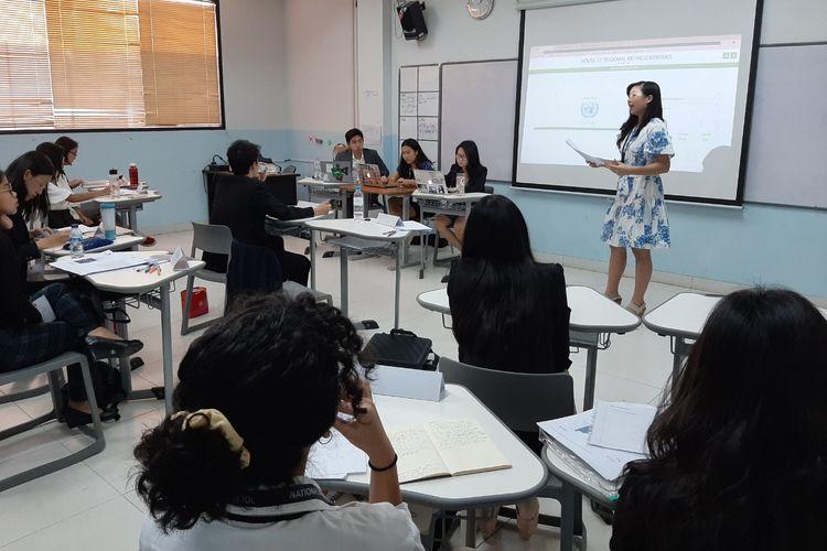 SMA National High Jakarta School (NHJS) menggelar acara ?Jakarta Model Parliament? berlangsung di NHJS, Jakarta pada Sabtu-Minggu (1-2/2/2020).