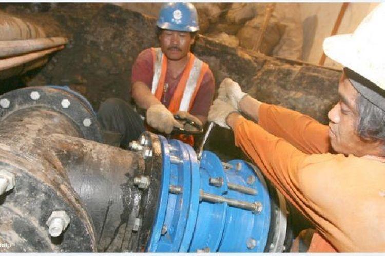 Dok. Palyja. Pengerjaan proyek Muara Baru, berupa pembangunan Booster Pump Gajah Mada, jaringan pipa Gedong Panjang, dan jaringan pipa Muara Baru sudah rampung dikerjakan.