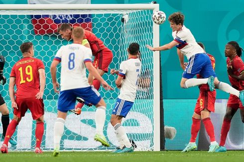 Hasil Euro 2020 - 2 Gol Lukaku Bawa Belgia Berpesta di Markas Rusia