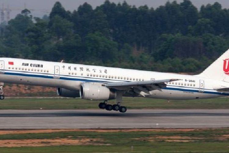 Pesawat Boeing 757 milik maskapai Air China.