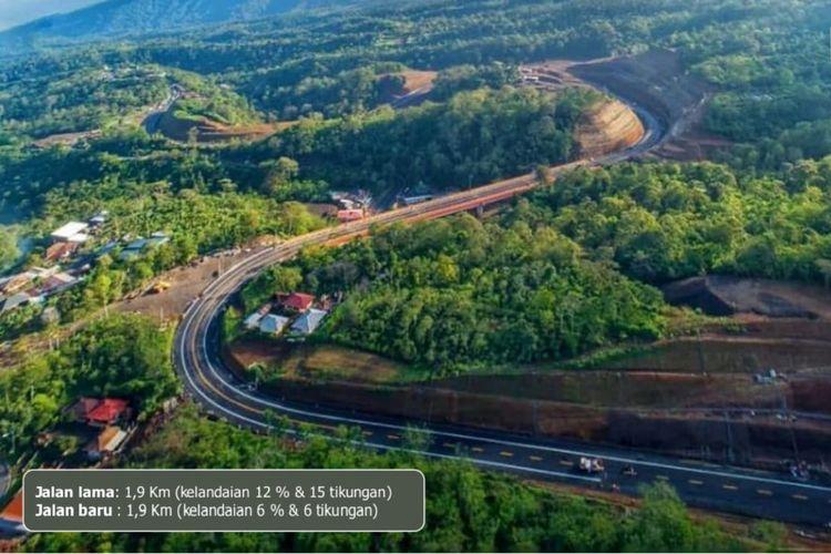 Pembangunan Jalan Pintas (Shortcut) ruas Mengwitani-Singaraja sepanjang 12,12 kilometer, terus berlanjut.