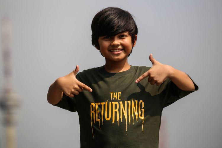 Aktor peran Muzakki Ramdhan berpose setelah wawancara promo film The Returning di Menara Kompas Gramedia, Palmerah Selatan, Jakarta, Rabu (24/10/2018). Film The Returning akan tayang pada tanggal 1 November 2018.