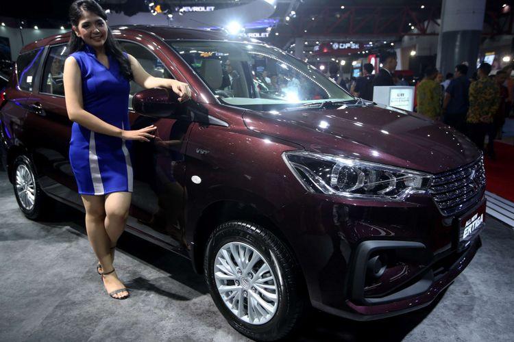 All New Suzuki Ertiga dipamerkan di Indonesia International Motor Show 2018 di JI Expo Kemayoran, Jakarta, Kamis (19/4/2018). Pameran otomotif terbesar di Indonesia ini akan berlangsung hingga 29 April 2018 mendatang.