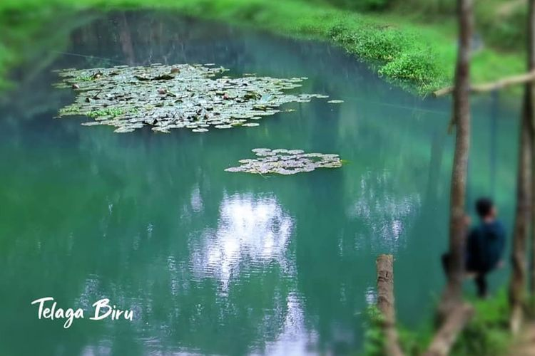 Telaga Biru di kawasan Taman Nasional Gunung Rinjani, Nusa Tenggara Barat.