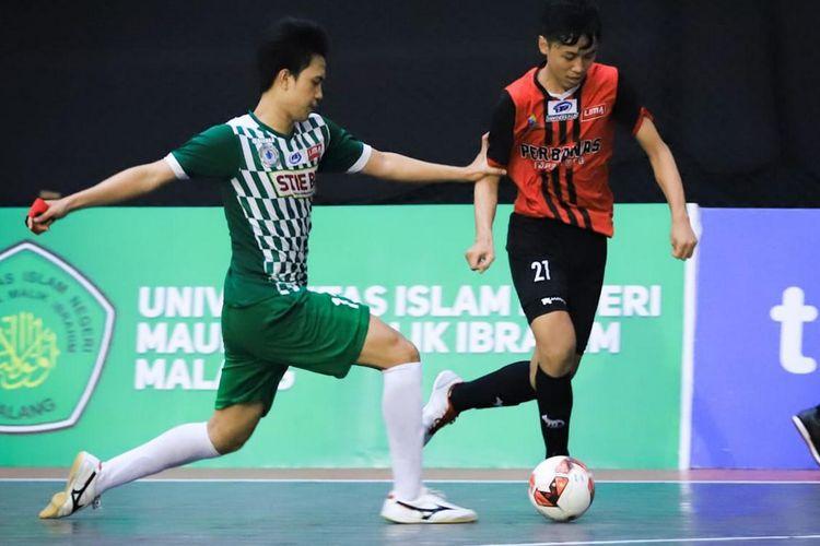 Tim debutan, Perbanas, menjadi juara Liga Mahasiswa Futsal Nationals Season 7 setelah mengalahkan Sekolah Tinggi Ilmu Ekonomi Bhakti Pembangunan (STIE BP) Jakarta pada babak grand final, Jumat (6/12/2019).