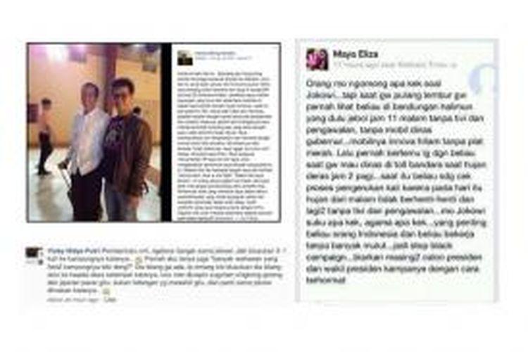 Cuplikan testimoni Jokowi yang dimuat dalam surat terbuka untuk Tasniem Fauzia Rais oleh Dian Paramita.