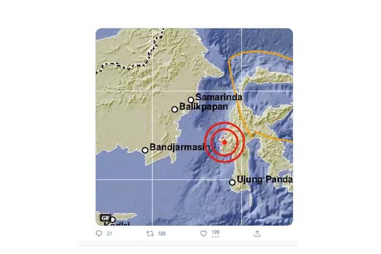 BMKG menginformasikan gempa dengan kekuatan magnitudo 5 kembali mengguncang Majene, Sabtu (16/1/2021) pagi ini.