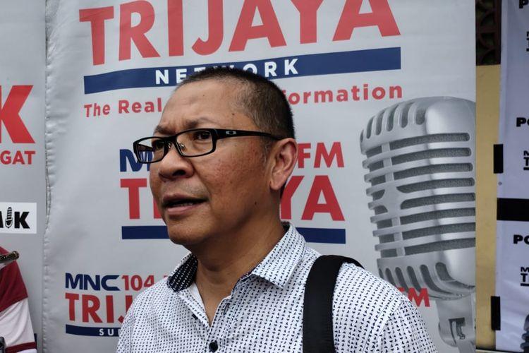 Sekretaris Dinas Sumber Daya Air DKI Jakarta Dudi Gardesi Asikin  di Sasana Krida Karang Taruna Bidara Cina, Jalan Baiduri Bulan, Jakarta Timur, Sabtu (4/1/2020).