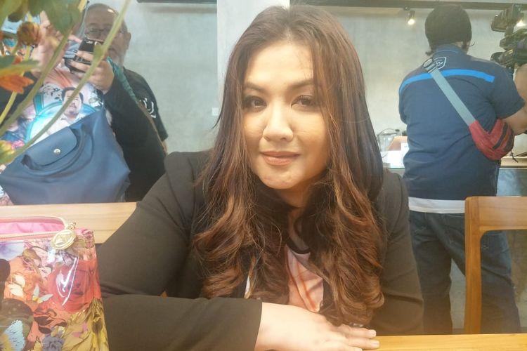 Cornelia Agatha saat ditemui usai jumpa pers peluncuran soundrack film Si Doel The Movie 2 berjudul Kepastian di kawasan Warung Buncit, Jakarta Selatan, Kamis (2/5/2019).