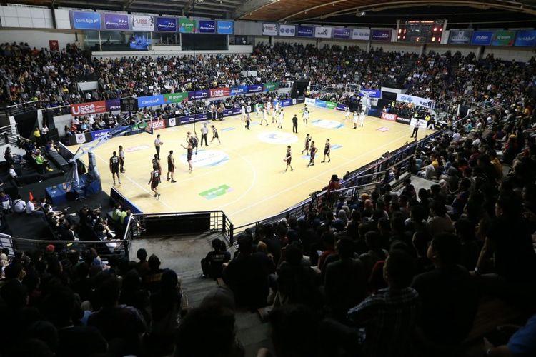 Suasana pertandingan IBL 2020.