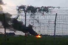 Video Viral Pesawat Jatuh dan Terbakar di Bandara Pondok Cabe, ARFF: Hoaks