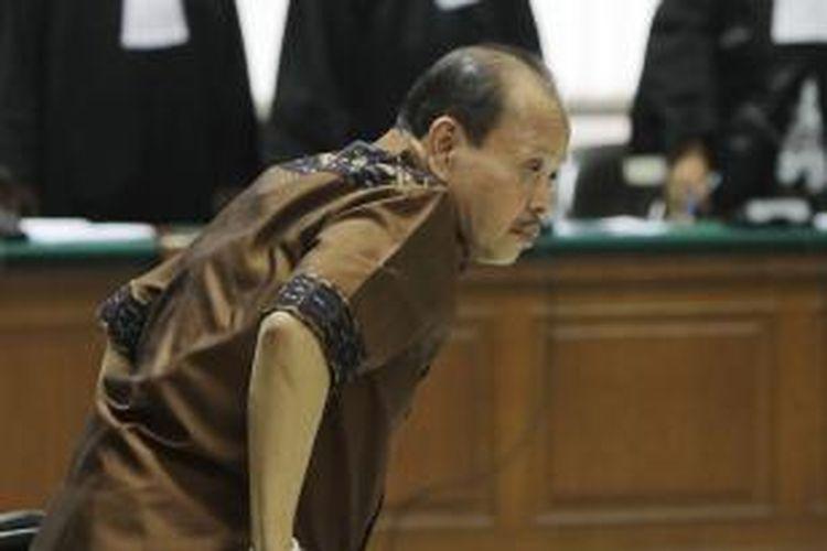 Mantan Ketua Komisi VII DPR Sutan Bhatoegana menjalani sidang di Pengadilan Tipikor, Jakarta Selatan, dengan agenda pembacaan putusan, rabu (19/8/2015).
