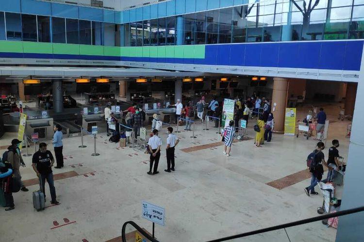 suasana lokasi cekin penumpang Bandara Internasional Lombok