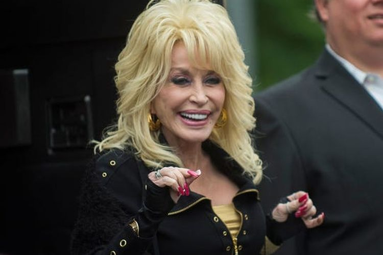 American singer and songwriter Dolly Parton.