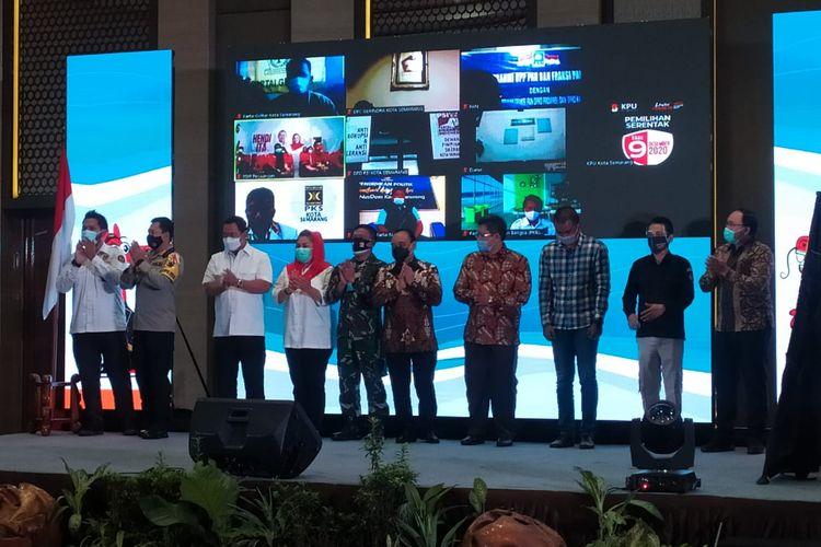 Deklarasi Kampanye Damai yang digelar KPU Kota Semarang, Sabtu (26/9/2020).