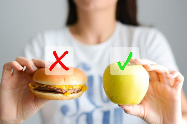 Ilustrasi memilih makanan
