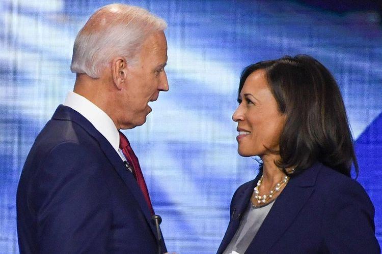 Calon Presiden dan Calon Wakil Presiden Partai Demokrat Pilpres 2020 Joe Biden dan Kamala Harris