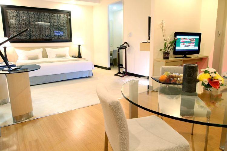 Salah satu kamar hotel  di Sintesa Hotel Manado.