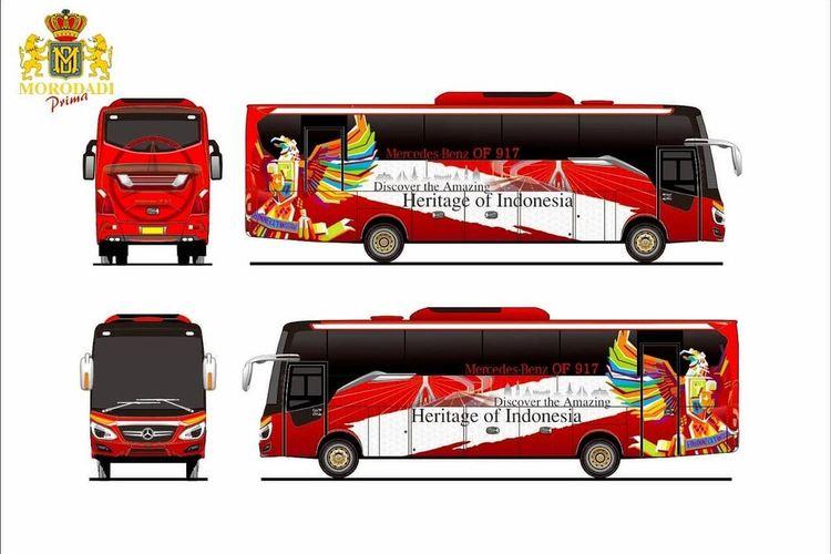 Bus medium baru karoseri Morodadi Prima