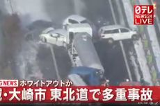 Kecelakaan Fatal Terjadi di Jepang 130 Kendaraan Saling Bertabrakan