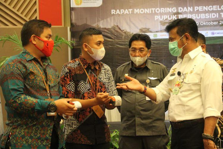 Rapat Monitoring dan Pengelolaan Penyaluran Pupuk Bersubsidi Tahun Anggaran (TA) 2020, Selasa (20/10/2020), di Hotel Claro, Makassar.