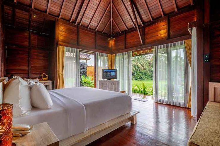 Kamar tipe Private Villa di penginapan Kayangan Villa Ubud, Tegallalang, Bali.