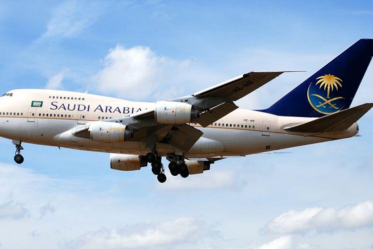 Salah satu Boeing 747SP milik pemerintah Arab Saudi.