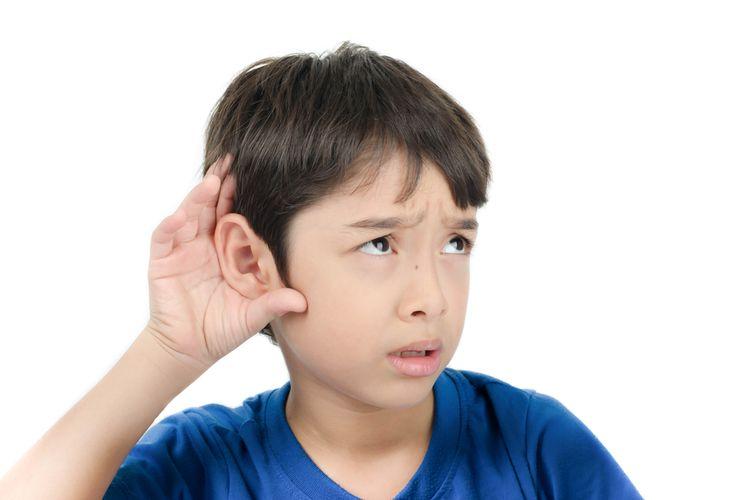 Ilustrasi anak dengan gangguan pendengaran