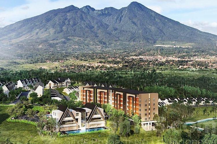 Royal Heights Apartment dikembangkan di lahan seluas 5.415 meter persegi di dalam kawasan Royal Tajur, Bogor.