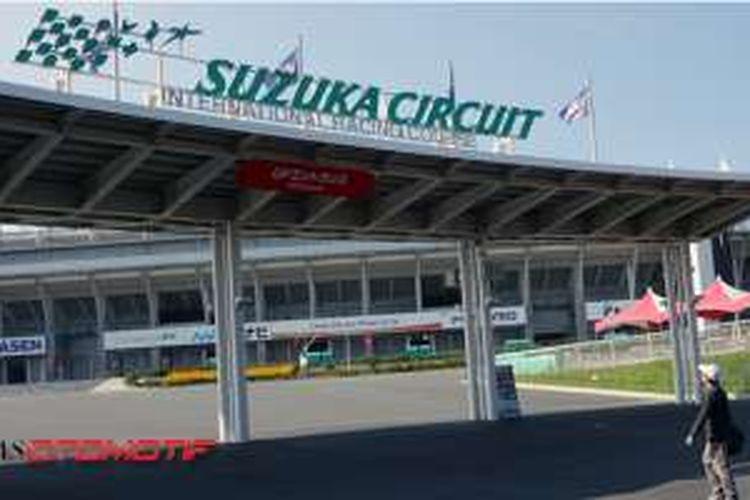 Sirkuit Suzuka di prefektur Mie, Jepang.