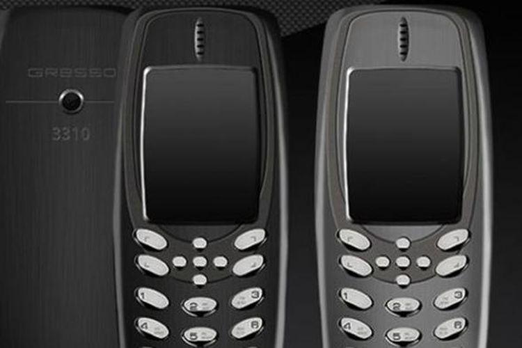 Ponsel mewah berbahan titanium dari Gresso. Di punggungnya tertulis angka 3310 yang mengacu pada ponsel ikonik Nokia.