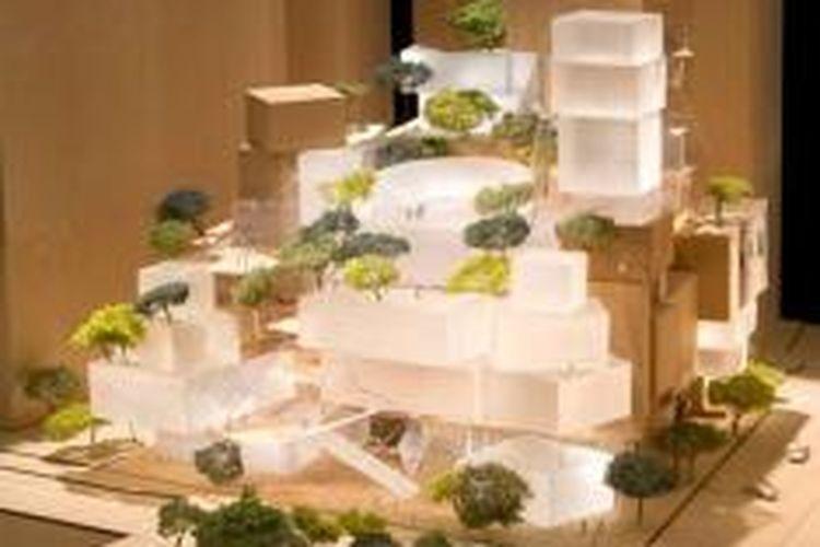 Desain Frank Gehry untuk Pusat Seni Pertunjukan di World Trade Center.