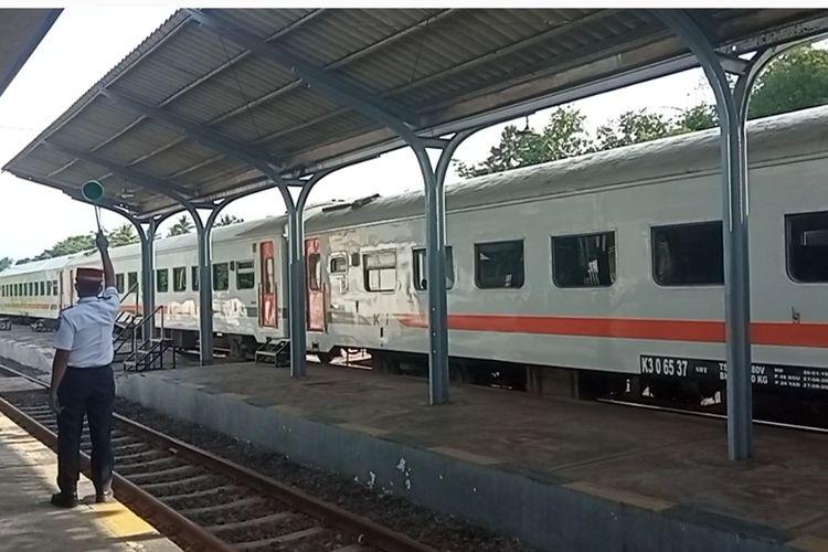 Suasana stasiun Kereta Api Banyuwangi Kota, Rabu (7/7/2021).