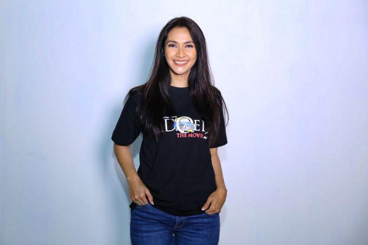 Artis peran Maudy Koesnaedi saat ditemui di sela-sela shooting film Si Doel The Movie 2 di Studio Toha, Ciputat, Tangerang Selatan, Rabu (12/12/2018).