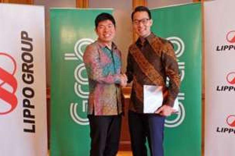 CEO Grab Antony Tan (kiri) dan Direktur Lippo Group John Riady