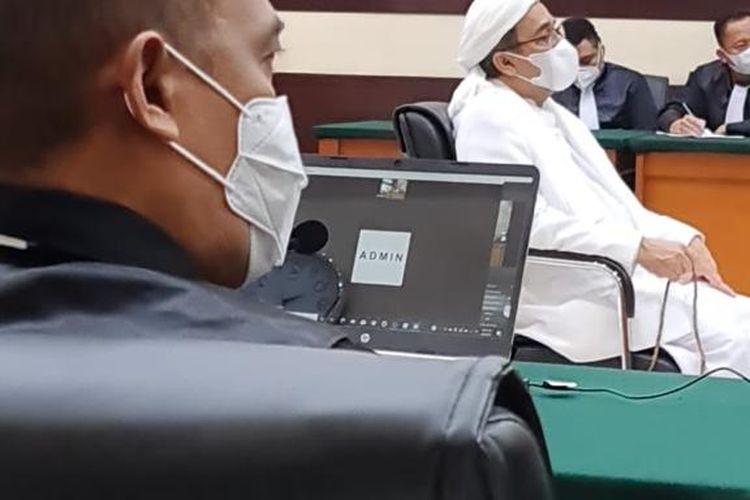 Sidang Rizieq Shihab di Pengadilan Negeri (PN) Jakarta Timur pada Selasa (6/4/2021).
