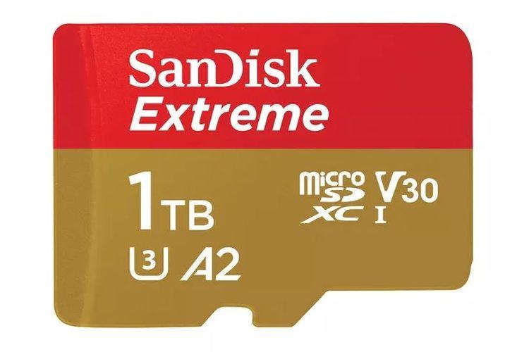 Ilustrasi kartu microSD Sandisk 1TB
