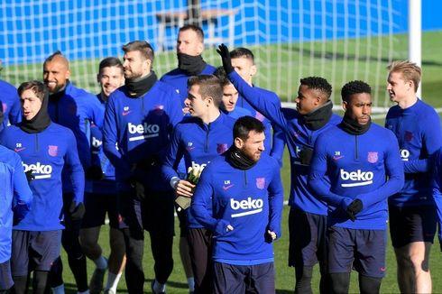 Jelang Piala Super Spanyol, Barcelona Gelar Latihan Terbuka