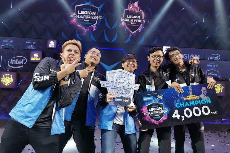 Tim eSports asal Indonesia, Aerowolf, berhasil menjadi juara Legion of Champions Seri IV 2019 di Bangkok, Thailand, pada 13-15 Desember 2019.