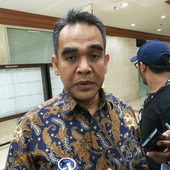 Ketua Fraksi sekaligus Sekjen Gerindra di Kompleks Parlemen, Senayan, Jakarta, Selasa (5/12/2017)