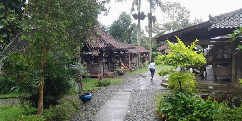 Joglo di Desa Wisata Kampoeng Djowo Sekatul di Kendal, Jawa Tengah, Minggu (4/2/2018).
