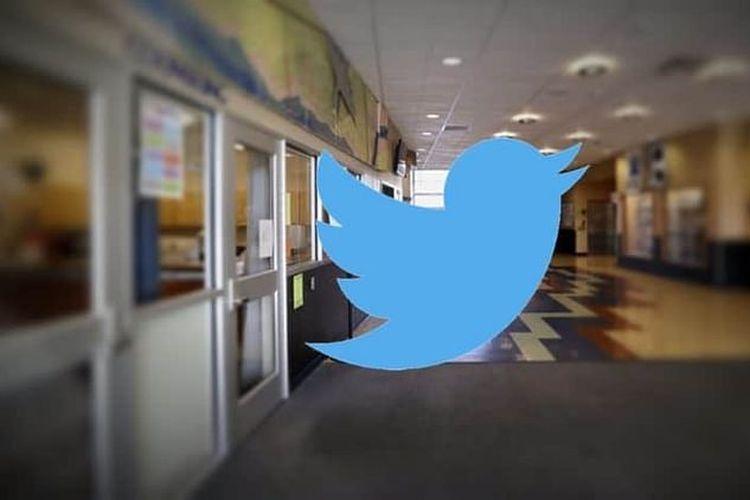 Ilustrasi logo Twitter.