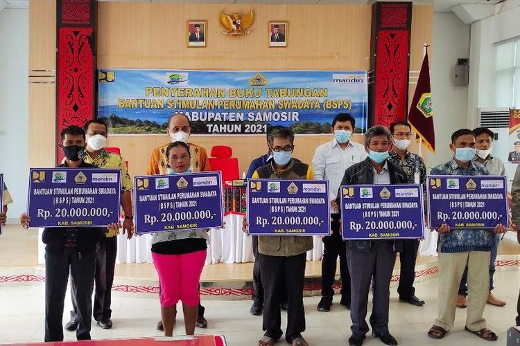 Kementerian PUPR berikan bantuan prorgam BSPS kepada 400 warga di Samosir Sumatera Utara