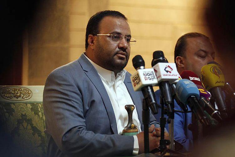 Foto dokumen yang diambil pada Januari 2017 menunjukkan pemimpin dewan politik tertinggi kelompok Houthi, Saleh al-Samad. Samad dilaporkan tewas dalam serangan udara yang dilancarkan koalisi Arab Saudi.