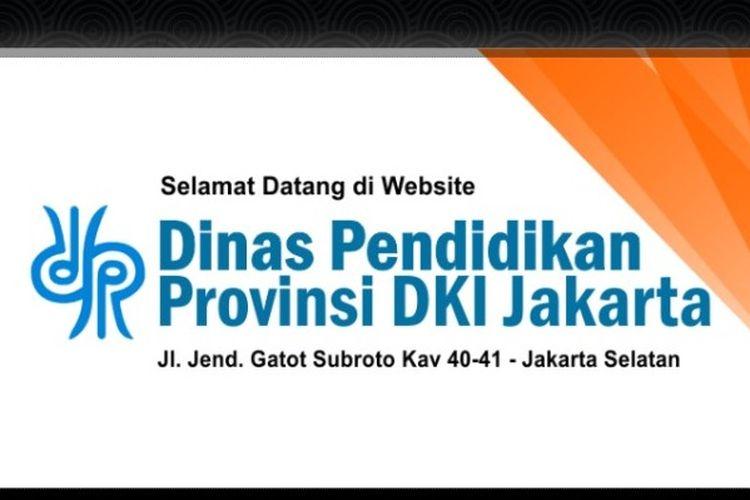 Tangkapan layar laman resmi Disdik DKI Jakarta.