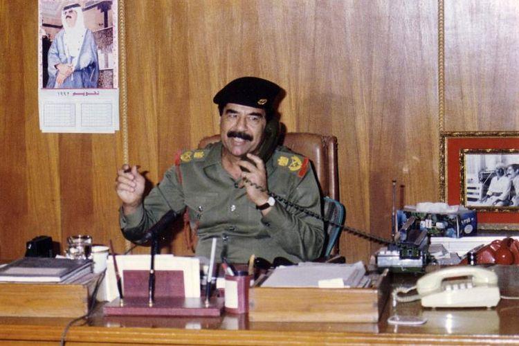 Saddam Hussein pada 1991.